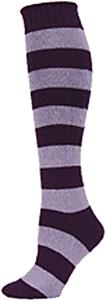 QT Feet Womens Recycled Rugby Stripe Knee Socks