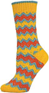 QT Feet Womens Recycled Zuni Fairisle Crew Socks