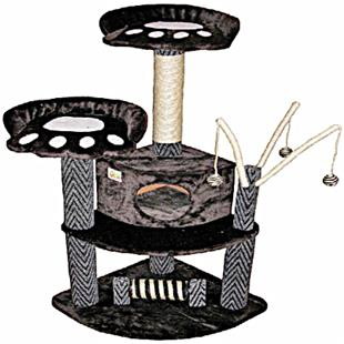 "Go Pet Club 50"" Black Cat Tree Condo Furniture"