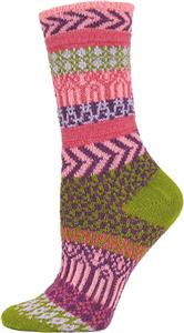 QT Feet Women Recycled Sunrise Fairisle Crew Socks