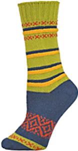 QT Feet Womens Recycled Harmony Stripe Crew Socks