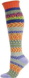 QT Feet Womens Recycled Sunrise Fairisle Knee Sock