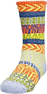 QT Feet Kids Recycled Sunrise Fairisle Crew Socks