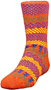 QT Feet Kids Surfs Up Fairisle Crew Socks