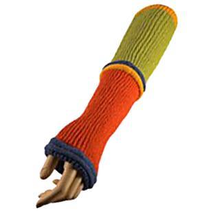 QT Feet Recycled Wonderland Fingerless Gloves