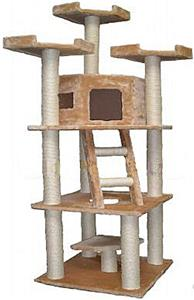 Go pet club 78 beige cat tree playground equipment and gear for Epic cat tree