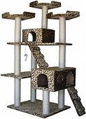 """Go Pet Club 72"""" Leopard Print Cat Tree Condo"""