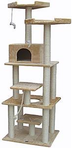 """Go Pet Club 76"""" Beige Cat Tree Condo Furniture"""