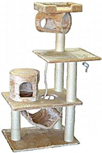 """Go Pet Club 62"""" Beige Cat Tree Condo Furniture"""