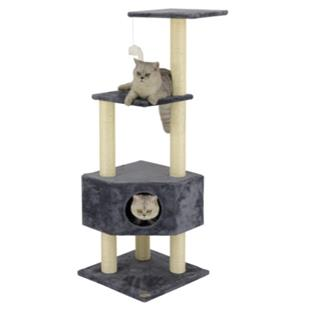 "Go Pet Club 51"" Beige Cat Tree Condo Furniture"
