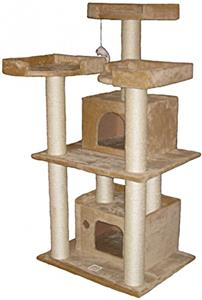 Go pet club 51 beige cat tree playground equipment and gear for Epic cat tree