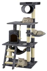 """Go Pet Club 62"""" Cat Tree Condo Furniture"""