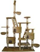 "Go Pet Club Adjustable 92""-106"" Beige Cat Tree"