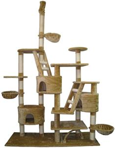 "Go Pet Club Adjustable 92""-106"" Beige Cat Tree"