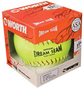"11"" ASA NFHS Fastpitch Dream Seam Yellow Softball"