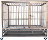 Go Pet Club Heavy Duty Steel Crate with Wheels