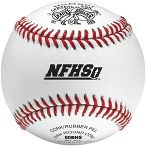 "deBeer 9"" NFHS Raised Seams Leather Baseballs"