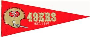 Winning Streak NFL 49ers Throwback Pennant
