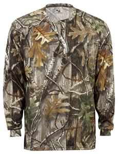 Badger B-Core Long Sleeve Performance Camo Tees