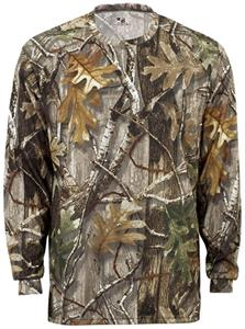 Badger Youth B-Core L/S Performance Camo Tees