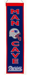 Winning Streak NFL Patriots Man Cave Banner