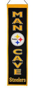 Winning Streak NFL Steelers Man Cave Banner