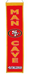 Winning Streak NFL 49ers Man Cave Banner