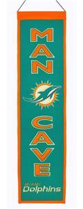Winning Streak NFL Miami Dolphins Man Cave Banner