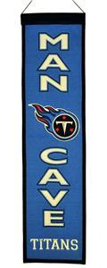 Winning Streak NFL Tennessee Titan Man Cave Banner