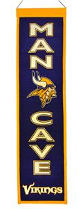 Winning Streak NFL Vikings Man Cave Banner