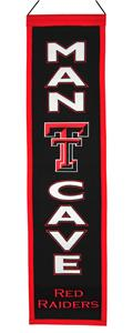 Winning Streak NCAA Texas Tech Man Cave Banner