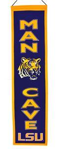 Winning Streak NCAA LSU Man Cave Banner