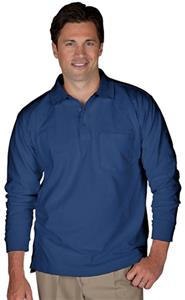Edwards Unisex Long Sleeve Blended Pique Polo