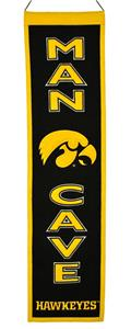 Winning Streak NCAA Iowa Hawkeyes Man Cave Banner