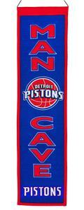 Winning Streak NBA Detroit Pistons Man Cave Banner