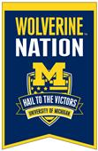 Winning Streak NCAA Michigan Fan Nations Banner