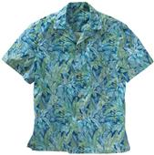 Edwards Unisex Tropical Leaf Camp Shirt