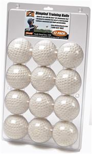 Hit Zone Dimpled Training Balls (Dozen)