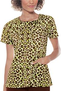 Baby Phat Asymmetrical Neck Think Panther Scrubs