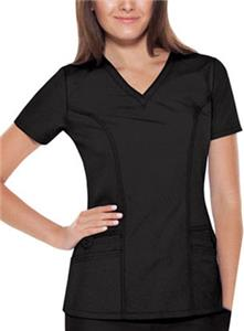 Baby Phat Solid V-Neck Scrub Top
