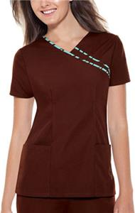 Baby Phat Brown V-Neck Scrub Top