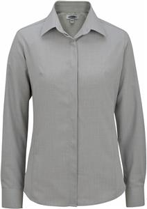 Edwards Womens Long Sleeve Batiste Cafe Blouse