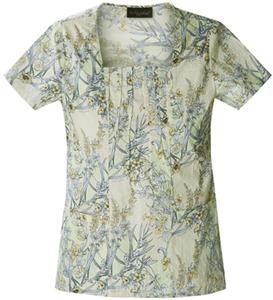 Baby Phat Womens Square Neck Botanix Scrub Top
