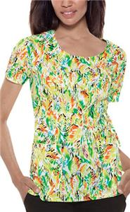 Baby Phat Changing Leaves Scoop Neck Scrub Top