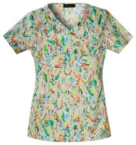 Baby Phat Changing Leaves Mock Wrap Scrub Top