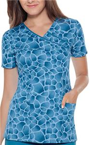 Baby Phat Get The Skinny Mock Wrap Scrub Top