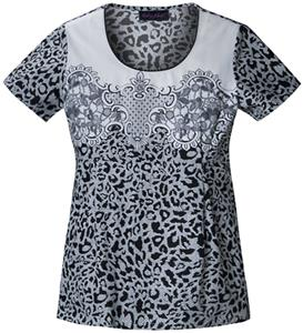 Baby Phat Lace It Up Round Neck Scrub Top