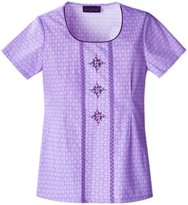 Baby Phat Lovely Lavender Scoop Neck Scrub Top