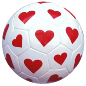 Red Lion Hearts Soccer Balls (sizes 3,4,5)