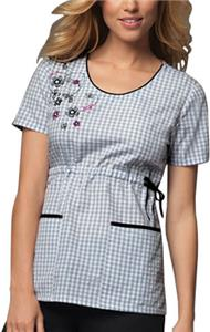 Cherokee Runway Womens Round Neck Scrub Top